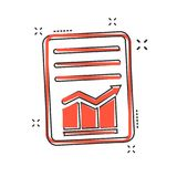 Cartoon checklist icon in comic style. Document check illustrati. On pictogram. Diagram graph sign splash business concept Royalty Free Stock Images