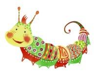 Cartoon cheerful caterpillar Royalty Free Stock Image