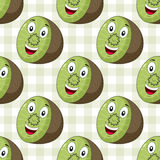 Cartoon Cheerful Kiwi Seamless Pattern Royalty Free Stock Images