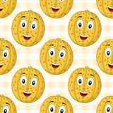 Cartoon Cheerful Melon Seamless Pattern Royalty Free Stock Photos