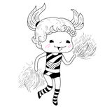 Cartoon cheerleader Royalty Free Stock Photo