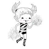 Cartoon cheerleader Royalty Free Stock Photo