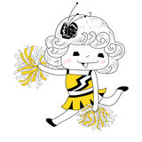 Cartoon cheerleader royalty free illustration