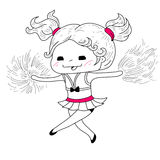 Cartoon cheerleader stock illustration