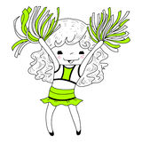Cartoon cheerleader Stock Photo