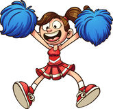 Cartoon cheerleader royalty free illustration