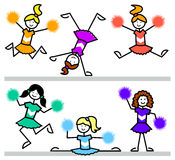 Cartoon Cheerleader Kids/eps Stock Images