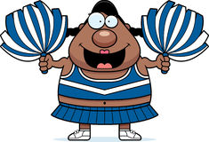 Cartoon Cheerleader Pompoms. A cartoon illustration of a cheerleader with pompoms Stock Photography