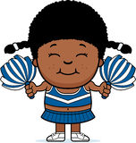 Cartoon Cheerleader Pompoms. A cartoon illustration of a little cheerleader with pompoms Stock Photography
