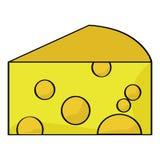 Cartoon cheese Royalty Free Stock Image