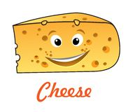 Cartoon cheese Royalty Free Stock Image