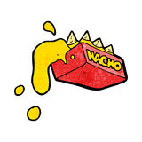 Cartoon cheesy nachos Royalty Free Stock Photography