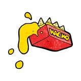 cartoon cheesy nachos Royalty Free Stock Photography