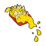 Cartoon cheesy nachos Royalty Free Stock Photos
