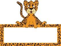 Cartoon cheetah Royalty Free Stock Photos