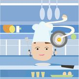 Cartoon chef Stock Photography