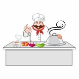 Cartoon chef Royalty Free Stock Photography