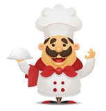 Cartoon Chef. Cartoon illustration of italian Chef Royalty Free Stock Photography