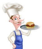 Cartoon Chef Burger Royalty Free Stock Photo