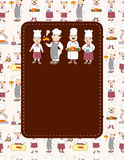 Cartoon chef card Royalty Free Stock Photos