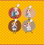 Cartoon chef card Stock Photo