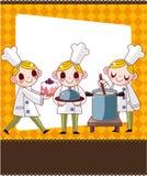 Cartoon chef card Royalty Free Stock Image