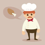 Cartoon chef  Royalty Free Stock Images