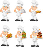 Cartoon chef collection set isolated on white background Stock Photography