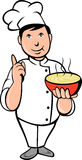 Cartoon Chef cook bowl soup Stock Photos