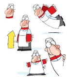 Cartoon chef drawings. A study of cartoon drawings of a restaurant chef Royalty Free Stock Photos