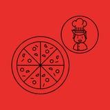 Cartoon chef gourmet pizza italian Royalty Free Stock Photo