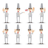 Cartoon chef with hand sign Stock Photo