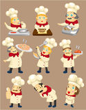 Cartoon chef icon Stock Photo