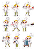 Cartoon chef icon Royalty Free Stock Photos