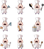 Cartoon chef icon Royalty Free Stock Photos