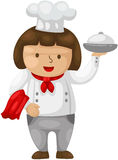 Cartoon chef Stock Image