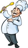 Cartoon chef with a ladle Royalty Free Stock Photography