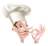 Cartoon Chef Perfect Sign Royalty Free Stock Image