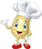 Cartoon chef potato waving hand Royalty Free Stock Photos