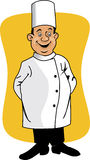Cartoon chef smiling Stock Photos