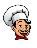 Cartoon chef in toque Royalty Free Stock Photography