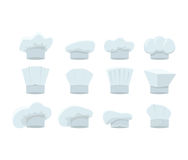 Cartoon Chef White Hats Set. Vector Stock Images
