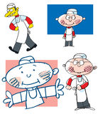 Cartoon chefs. A study of cartoon drawings of chefs Stock Image