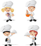 Cartoon chefs cooking Stock Photos