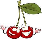 Cartoon cherry Royalty Free Stock Photo