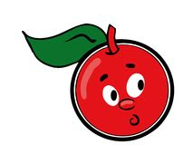 Cartoon cherry Royalty Free Stock Image