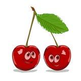 Cartoon cherry Stock Photo