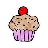 cartoon cherry cupcake Stock Photo