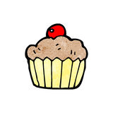 Cartoon cherry cupcake Stock Image