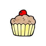 cartoon cherry cupcake Stock Image